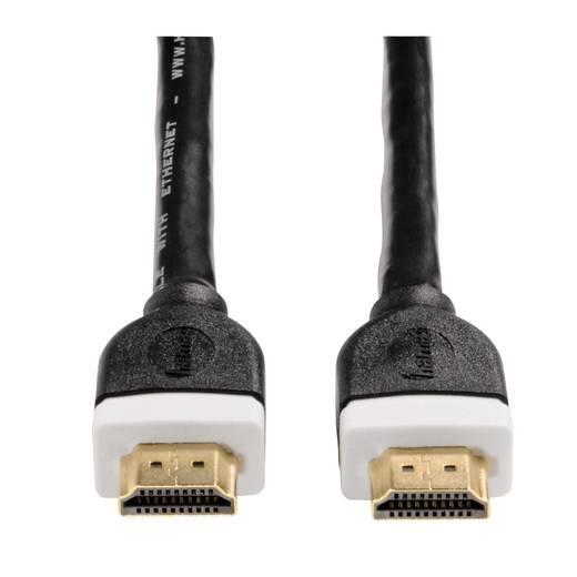 Hama HDMI Anschlusskabel [1x HDMI-Stecker - 1x HDMI-Stecker] 10 m Schwarz