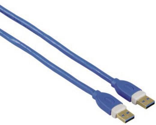 USB 3.0 Anschlusskabel [1x USB 3.0 Stecker A - 1x USB 3.0 Stecker A] 1.8 m Blau vergoldete Steckkontakte Hama