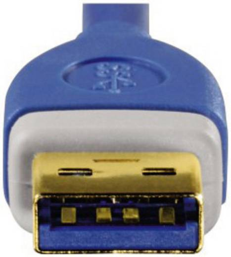 USB 3.0 Anschlusskabel [1x USB 3.0 Stecker A - 1x USB 3.0 Stecker A] 1.80 m Blau vergoldete Steckkontakte Hama