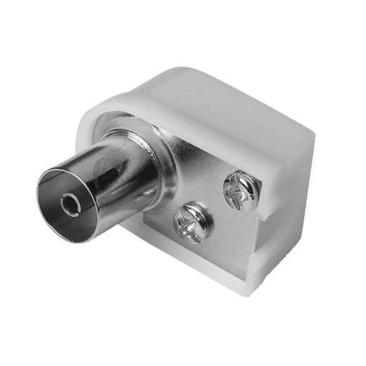 Antennen-Buchse Koax-Winkel, schraubbar, 75 Ohm Antenne Steckverbinder Kabel-Durchmesser: 6 mm