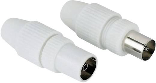 Koax-Stecker und Koax-Buchse im Set, klemmbar Antenne Kabel-Durchmesser: 7 mm