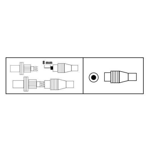 Antennen-Stecker Koax, klemmbar Antenne Kabel-Durchmesser: 7 mm