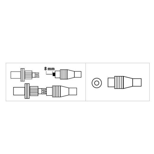 Antennen-Buchse Koax, klemmbar Antenne Kabel-Durchmesser: 7 mm