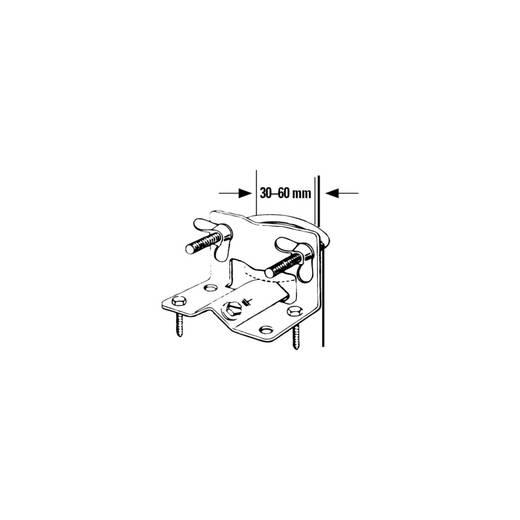 Masthalterung Hama 00044177 Passend für Mast-Ø (min.): 42 mm Passend für Mast-Ø (max.): 60 mm