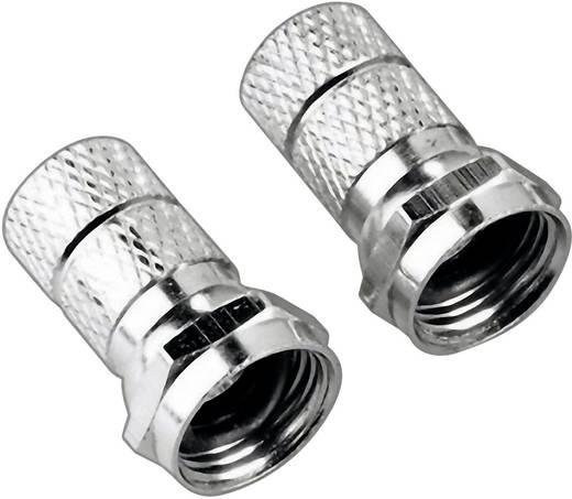 F-Stecker, 6,8 mm, 2 Stück SAT Steckverbinder Kabel-Durchmesser: 6.8 mm