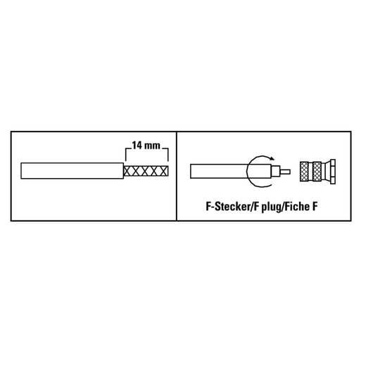 F-Stecker, 6,8 mm, 4 Stück SAT Steckverbinder Kabel-Durchmesser: 6.8 mm