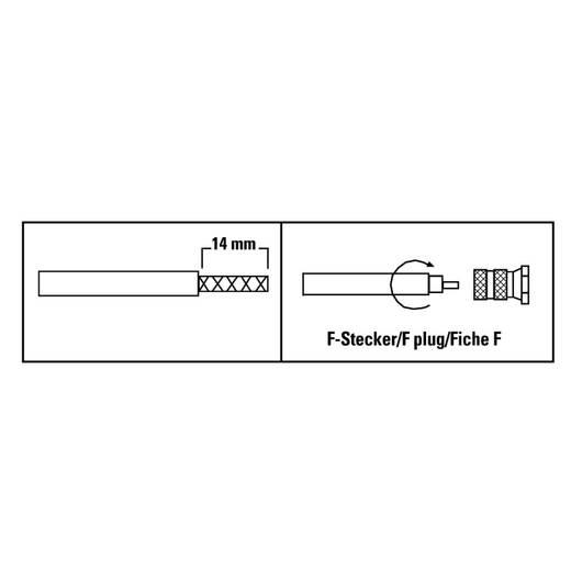 F-Stecker, 6,8 mm, 8 Stück SAT Steckverbinder Kabel-Durchmesser: 6.8 mm