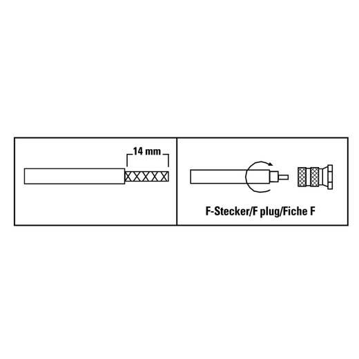 F-Stecker, 6,5 mm, 8 Stück SAT Steckverbinder Kabel-Durchmesser: 6.5 mm