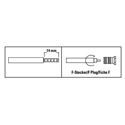 """F-Stecker """"ProfiLine"""", 6,5 mm, 4 Stück SAT Kabel-Durchmesser: 6.5 mm"""