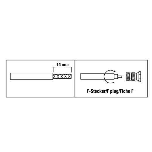 """F-Stecker """"ProfiLine"""", 6,8 mm, 4 Stück SAT Steckverbinder Kabel-Durchmesser: 6.8 mm"""