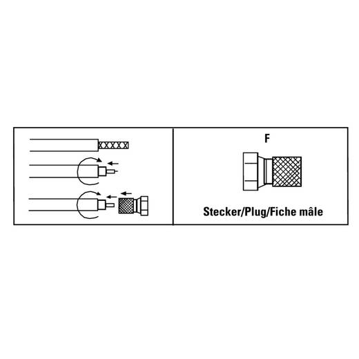F-Stecker, 6,6 mm, 2 Stück SAT Steckverbinder
