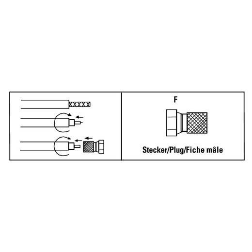 F-Stecker, 5,8 mm, 2 Stück SAT Kabel-Durchmesser: 5.8 mm