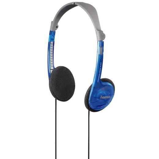 Kopfhörer Hama 56228 On Ear Leichtbügel Blau, Grau