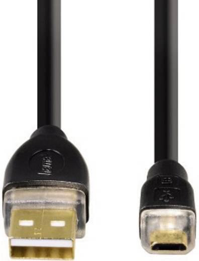Hama USB 2.0 Anschlusskabel [1x USB 2.0 Stecker A - 1x USB 2.0 Stecker Micro-B] 1.8 m Schwarz vergoldete Steckkontakte