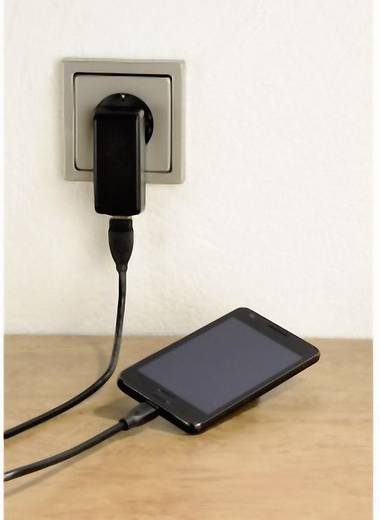 USB 2.0 Anschlusskabel [1x USB 2.0 Stecker A - 1x USB 2.0 Stecker Micro-B] 0.75 m Schwarz vergoldete Steckkontakte Hama