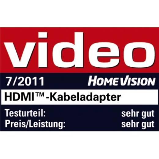 HDMI Adapter [1x HDMI-Stecker C Mini - 1x HDMI-Buchse] Schwarz vergoldete Steckkontakte Hama