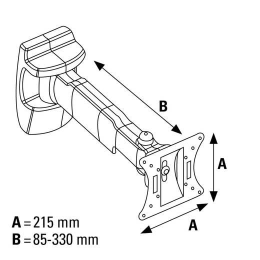 "TV-Wandhalterung 48,3 cm (19"") - 106,7 cm (42"") Neigbar+Schwenkbar Hama FULLMOTION L"