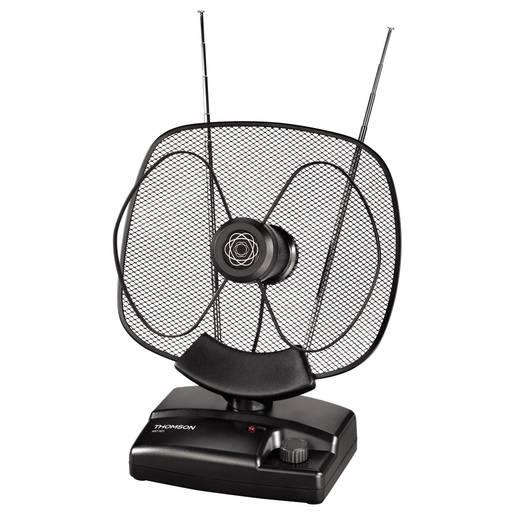 Aktive DVB-T/T2-Teleskopantenne Thomson ANT 1621 Innenbereich Verstärkung=36 dB Schwarz