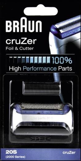 Scherfolie und Klingenblock Braun 20S - Kombipack cruZer Silber 1 Set
