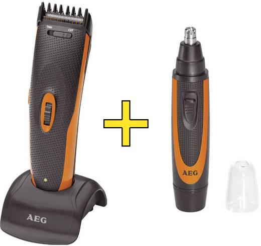 Haarschneider, Bartschneider, Ohr-, Nasenhaartrimmer AEG HSM/R5597 Schwarz, Orange