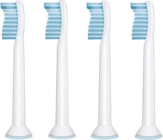 Aufsteckbürsten für elektrische Zahnbürste Philips Sonicare HX6054 Sensitive 4 St. Weiß