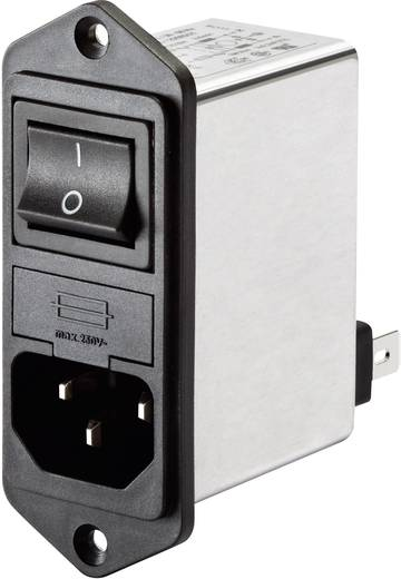 Netzfilter mit Schalter, mit Kaltgerätebuchse 250 V/AC 4 A 1 mH Schaffner FN 282-4-06 1 St.