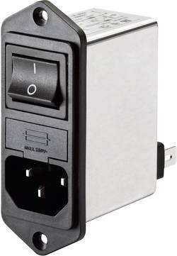 Sieťový filter Schaffner FN 281-2-06 FN 281-2-06, so spínačom, s IEC zásuvkou, 250 V/AC, 2 A, 2 mH, 1 ks