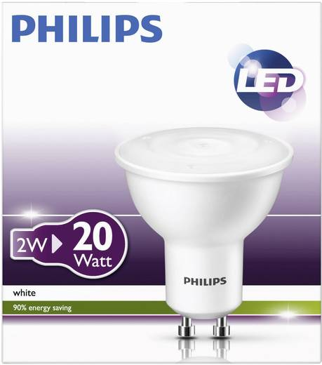 PHILIPS LED GU10 2W=20W warm-weiß Reflektor