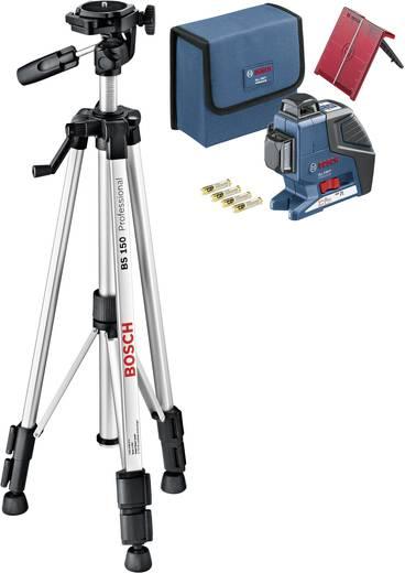 Linienlaser selbstnivellierend Bosch Professional GLL 3-80 P+ BT 150 Reichweite (max.): 40 m Kalibriert nach: Werksstan