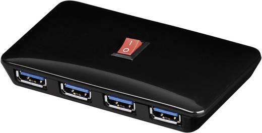 4 Port USB 3.0-Hub Goobay Schwarz