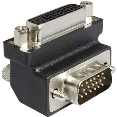 DVI / VGA Adapter [1x DVI-Buchse 24+5pol. - 1x VGA-Stecker] 90° 0 m Schwarz Delock Preisvergleich