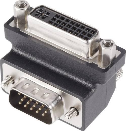 DVI / VGA Adapter [1x DVI-Buchse 24+5pol. - 1x VGA-Stecker] 90° 0 m Schwarz Delock