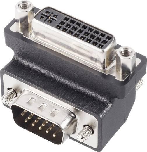DVI / VGA Adapter [1x DVI-Buchse 24+5pol. - 1x VGA-Stecker] 270° 0 m Schwarz Delock
