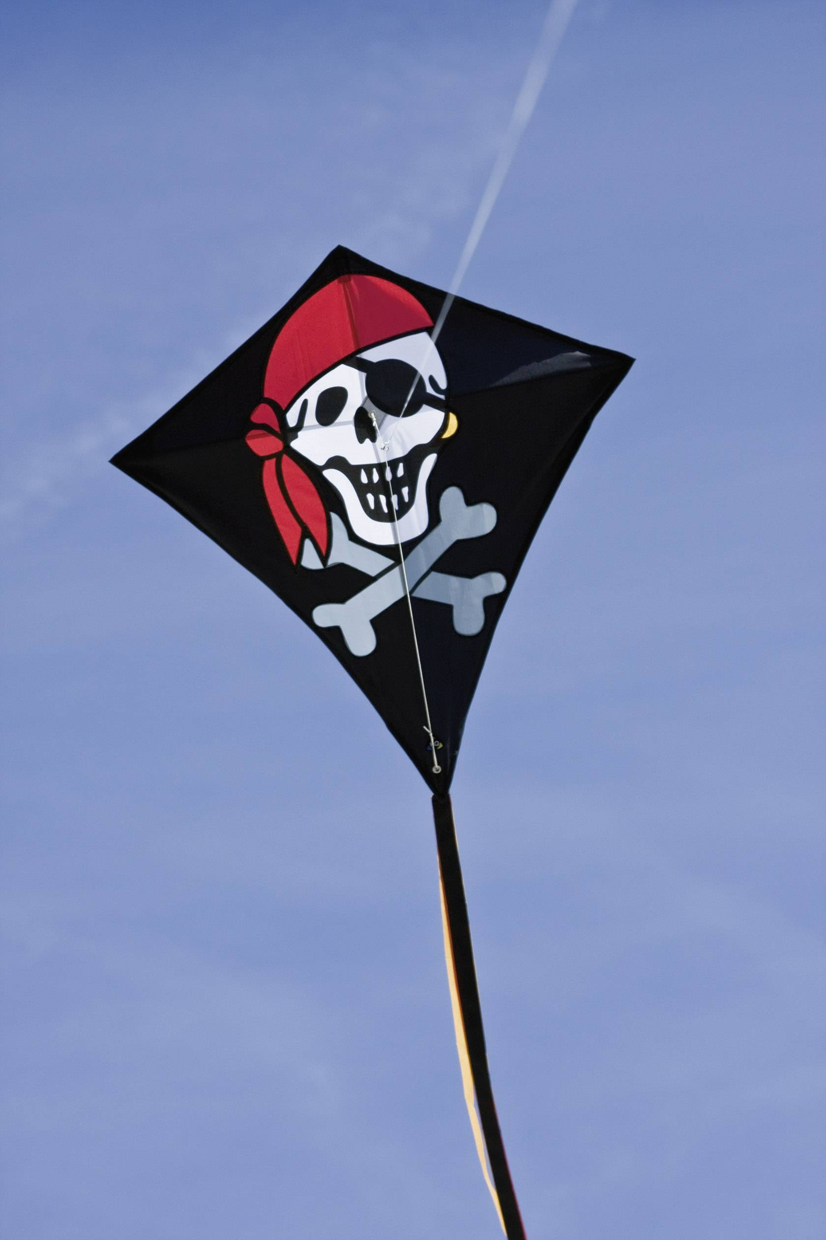 HQ Kinderdrachen Einleiner Eddy Jolly Roger 50 cm Drachen