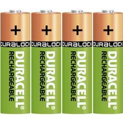 Akumulátor Duracell, NiMH, AA, 1300 mAh, 4 ks