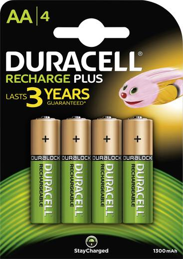 Mignon (AA)-Akku NiMH Duracell StayCharged HR06 1300 mAh 1.2 V 4 St.