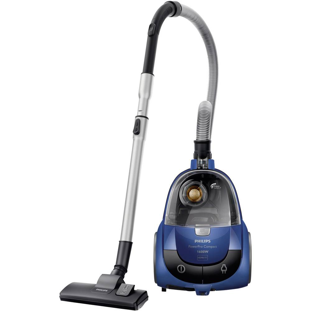 aspirateur sans sac philips powerpro compact 1600 w bleu. Black Bedroom Furniture Sets. Home Design Ideas