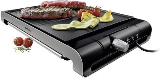 Tisch Elektro-Grill Philips HD4419/20 mit manueller Temperatureinstellung Edelstahl, Schwarz