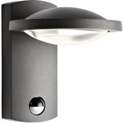 LED vonkajšie nástenné osvetlenie s PIR senzorom 3 W teplá biela Philips Lighting Ledino 17239/93/16 antracitová