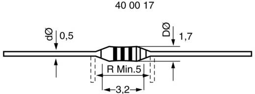 Kohleschicht-Widerstand 22 Ω axial bedrahtet 0204 0.1 W 1000 St.