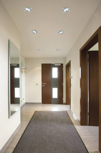 LED-Einbauleuchte 3er Set 2.4 W Tageslicht-Weiß Nice Price NP Basic 3786 Eisen