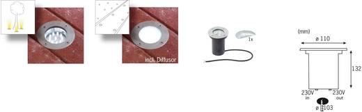 LED-Außeneinbauleuchte 1.2 W Neutral-Weiß Paulmann Boden 98875 Edelstahl