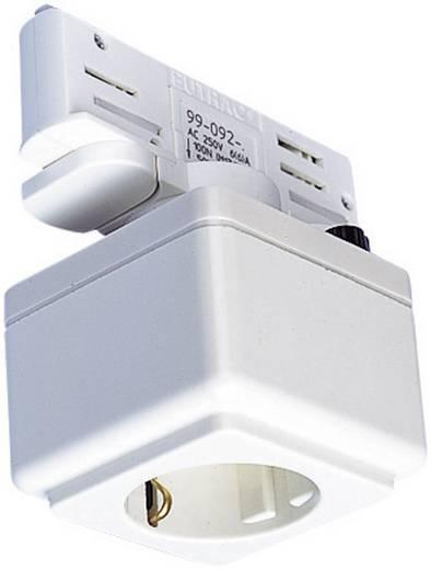 Hochvolt-Schienensystem-Komponente Steckdose Eutrac 145701 Creme-Weiß
