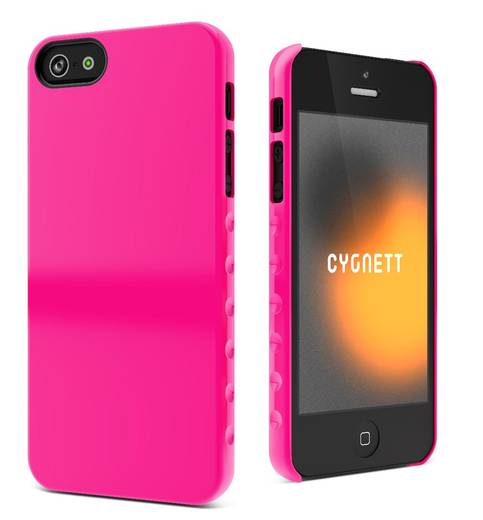 iPhone Backcover Cygnett Hard Case Aero Grip Form Passend für: Apple iPhone 5, Apple iPhone 5S, Apple iPhone SE, Pink