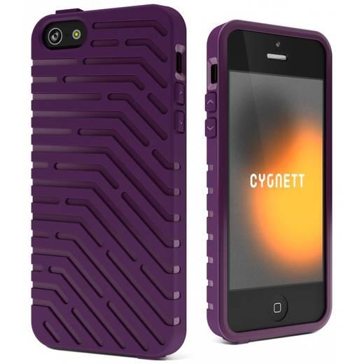 iPhone Backcover Cygnett Hard Case Vector TPU Passend für: Apple iPhone 5, Apple iPhone 5S, Apple iPhone SE, Lila