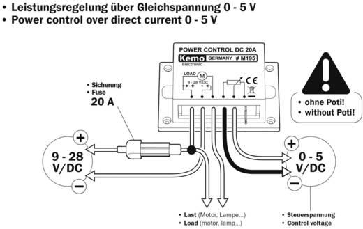 PWM Leistungsregler Baustein Kemo M195 9 V/DC, 12 V/DC, 24 V/DC, 28 V/DC