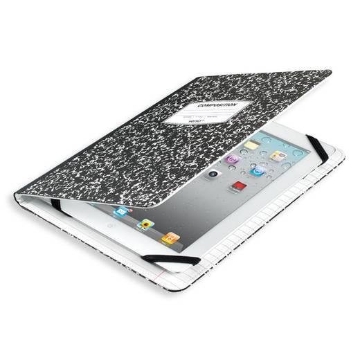"""Verso BookCase Tablet Tasche, universal Passend für Display-Größe (Bereich): 24,4 cm (9,6"""") - 25,7 cm (10,1"""") Schwarz/We"""