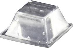 Pied d'appareil TOOLCRAFT PD2126C autocollant, carré transparent (L x l x h) 12.6 x 12.6 x 5.7 mm 1 pc(s)