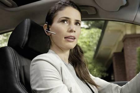 Headset beim Autofahren