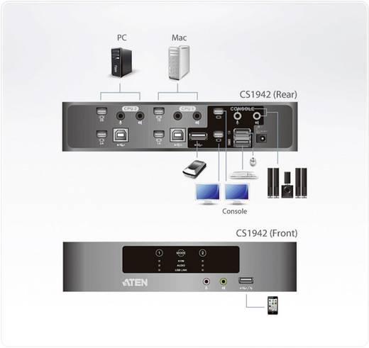 2 Port KVM-Umschalter Mini-Display-Port USB 2560 x 1600 Pixel CS1942-AT-G ATEN